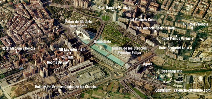 Hotels near of The City of Arts and Sciences