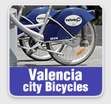 Valencia city bicycles
