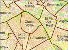 Map of Valencia Districts