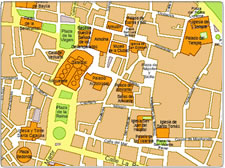 Map of Valencia city centre