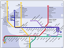 Map of Valencia metro