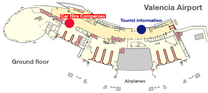 Valencia Airport Car Hire Locations